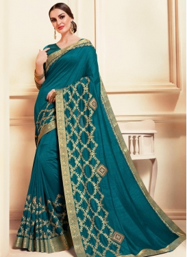 Poly Silk Designer Contemporary Saree For Ceremonial