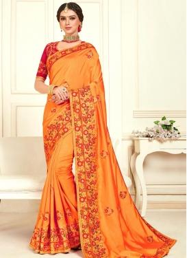 Poly Silk Designer Contemporary Saree For Festival