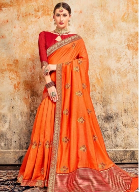 Poly Silk Designer Contemporary Style Saree