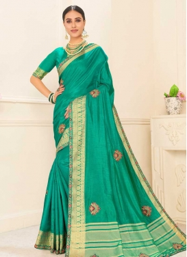 Poly Silk Designer Contemporary Style Saree