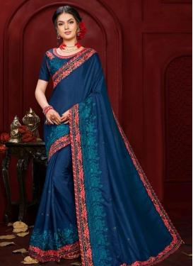 Poly Silk Designer Contemporary Style Saree For Festival