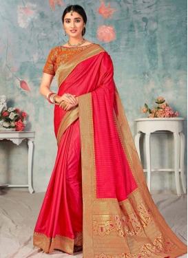 Poly Silk Lace Work Trendy Classic Saree
