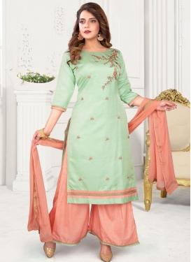 Poly Silk Readymade Salwar Kameez