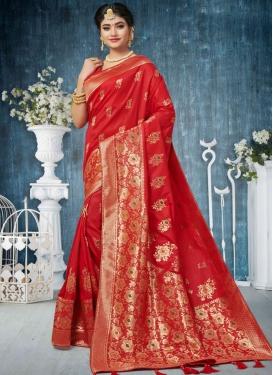 Precious Weaving Ceremonial Designer Traditional Saree