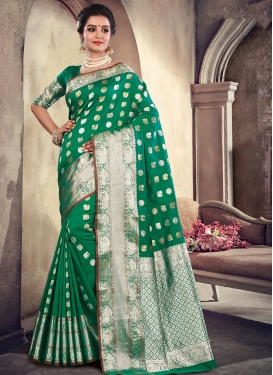 Prepossessing Green Wedding Designer Traditional Saree