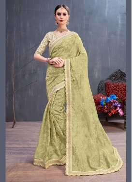 Pretty Resham Organza Traditional Saree