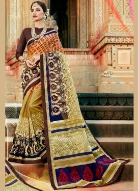 Print Cotton Printed Saree in Multi Colour