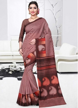 Print Work Art Silk Trendy Classic Saree