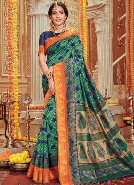 Print Work Art Silk Trendy Designer Saree
