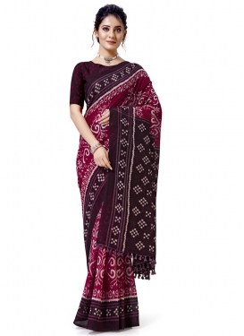 Print Work Designer Contemporary Saree For Casual