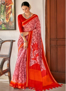 Print Work Designer Contemporary Style Saree