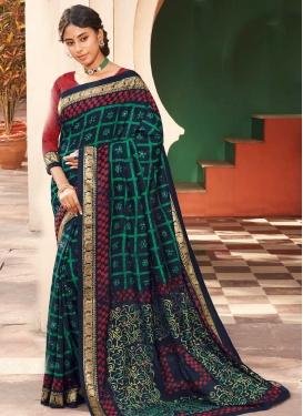 Print Work Designer Contemporary Style Saree