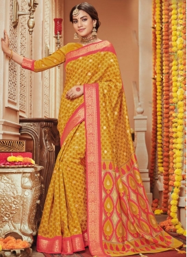 Print Work Designer Traditional Saree For Casual