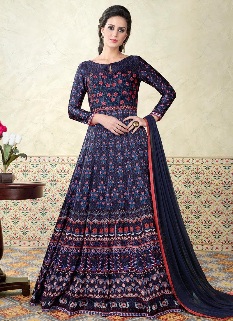 Print Work  Floor Length Anarkali Salwar Suit