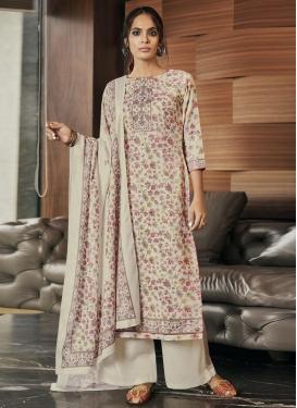 Print Work Palazzo Style Pakistani Salwar Suit