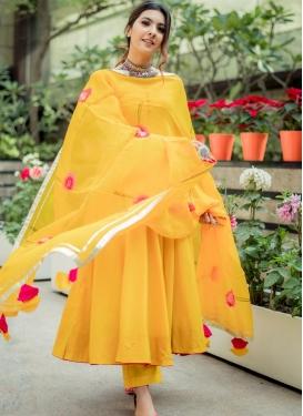Print Work Pant Style Classic Salwar Suit