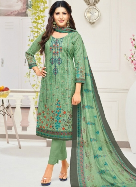 Print Work Pant Style Salwar Suit