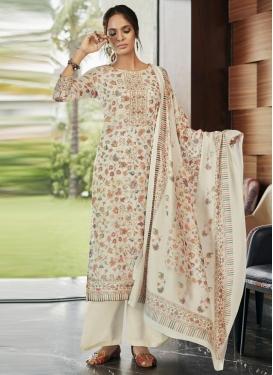 Print Work Pasmina Palazzo Style Pakistani Salwar Suit