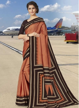 Print Work Traditional Designer Saree For Casual