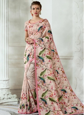 Print Work Trendy Classic Saree