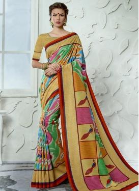 Print Work Trendy Saree