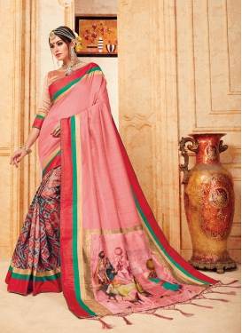 Pristine Multi Colour Abstract Print Traditional Saree