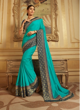 Prominent Art Silk Patch Border Designer Traditional Saree