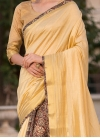 Prominent Cream Party Traditional Saree - 1