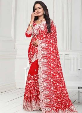 Pure Georgette Designer Contemporary Style Saree