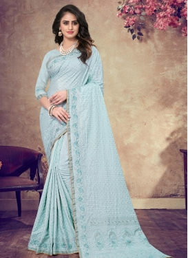 Pure Georgette Designer Traditional Saree