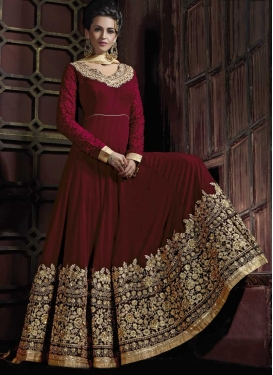 Pure Georgette Floor Length Anarkali Salwar Suit