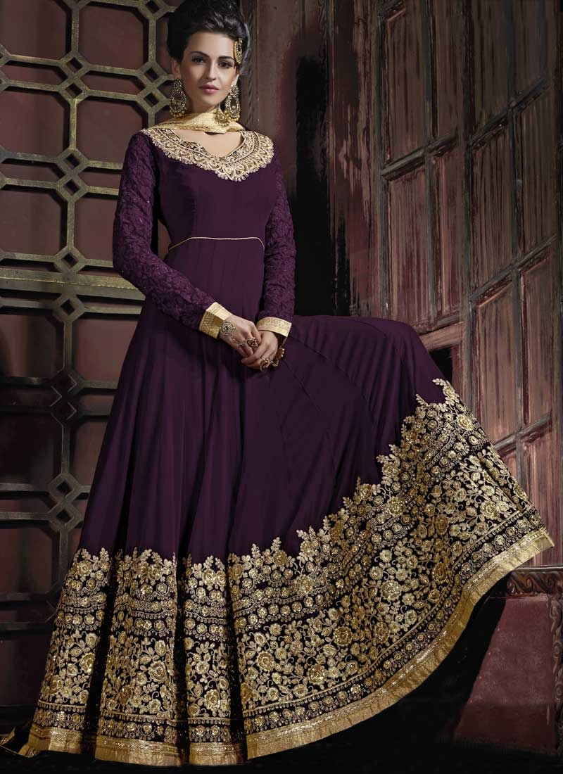 Pure Georgette Long Length Anarkali Suit
