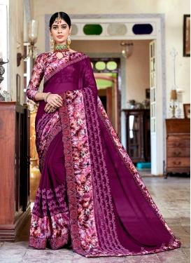 Purple Color Classic Saree