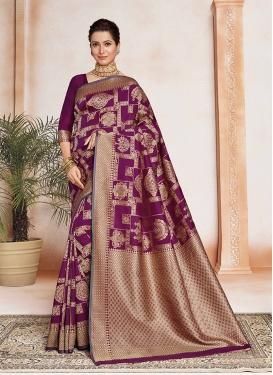 Purple Color Silk Saree