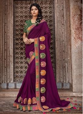 Purple Color Traditional Designer Saree