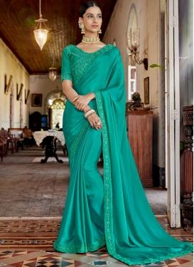 Rangoli Designer Saree in Turquoise