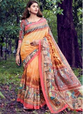 Ravishing Art Silk Printed Saree