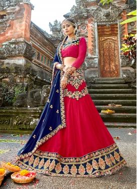 Ravishing Red Embroidered Designer Lehenga Choli