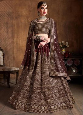 Raw Silk A Line Lehenga Choli