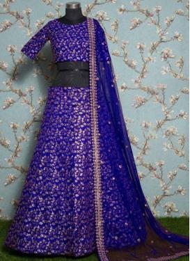 Raw Silk Trendy A Line Lehenga Choli
