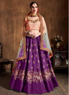 Raw Silk Trendy Lehenga