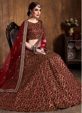 Raw Silk Trendy Lehenga Choli