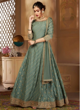 Readymade Anarkali Salwar Suit For Festival