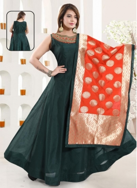 Readymade Floor Length Gown For Ceremonial