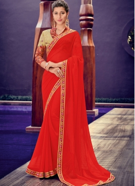 Red Color Trendy Saree
