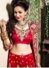 Red Net Trendy Lehenga Choli - 1