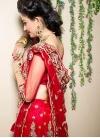 Red Net Trendy Lehenga Choli - 2