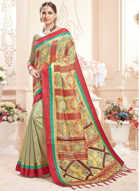 Refreshing Art Silk Multi Colour Classic Saree