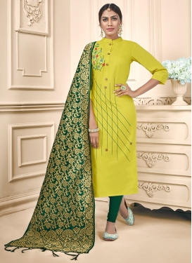 Refreshing Green Casual Trendy Churidar Suit