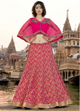 Refreshing Jacquard Silk Embroidered Work Trendy Lehenga Choli